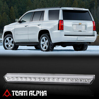 Fits 2015-2020 Chevy Suburban/Tahoe[Chrome/Clear]LED Third 3rd Brake Light Lamp