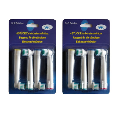 Premium Compatible Replacement Toothbrush Heads For Braun/Oral-B 8Pcs 2 pack