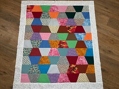 Colorful Tumbler Baby Quilt Top
