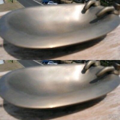 2 small BATH SOAP HOLDER Dish heavy collectable Solid heavy real Brass old style