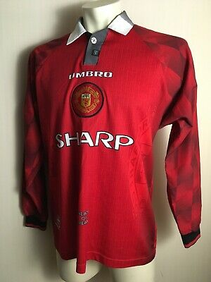 cheap for discount d1e63 a3ee0 MANCHESTER UNITED 1996 1997 Home Shirt Vintage camiseta jersey LONG SLEEVE  Sharp