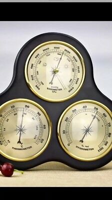 3 Pieces Hygrometer Barometer Thermometer Weather Station