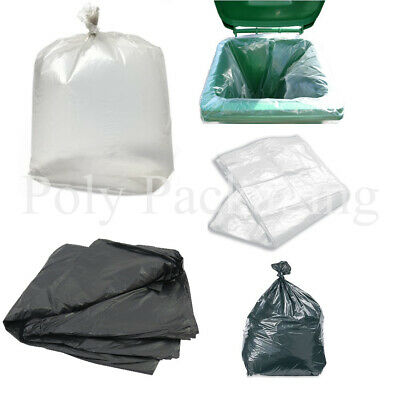 Heavy Duty Refuse Sacks Black and Clear Various Quantities