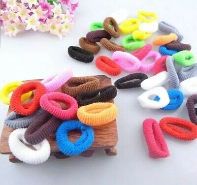 20x Mini Baby Toddler Hair Ties Elastic Soft Small Colourful Kids