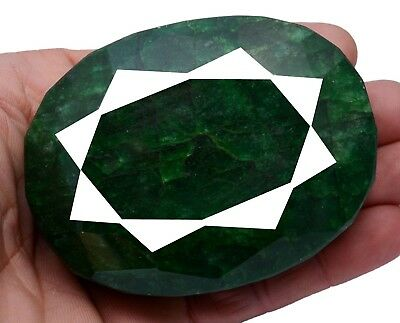 1727ct Certified Big Museum Size Natural Oval Size Green Emerald Loose Gemstone
