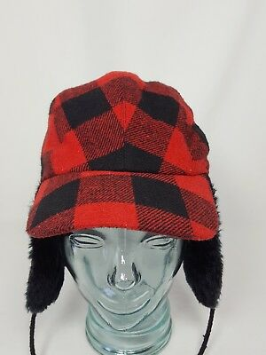 f73791a53c6 VINTAGE PLAID ELMER Fudd Style Winter Cap Hat Eat Muffs With Skier ...