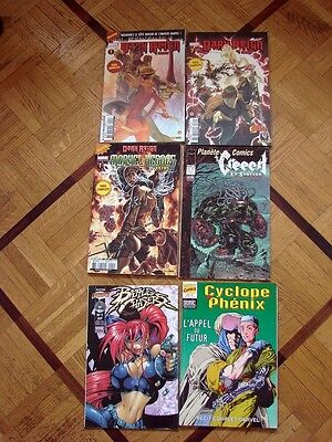 Lot 6 Marvel Dark Reigh Cyclope Phenix The Creech Battle Chasers Comics  Semic