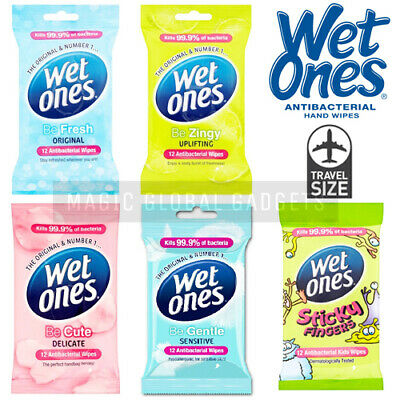 Genuine Wet Ones Original Antibacterial Scented Hand Face Body Travel Wipes