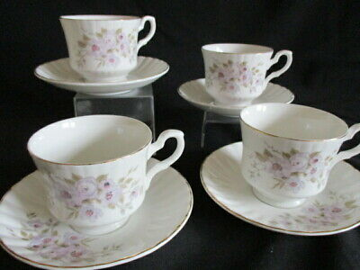 Vintage Royal Stafford English Bone china Young Summer lilac Tea cups & saucers