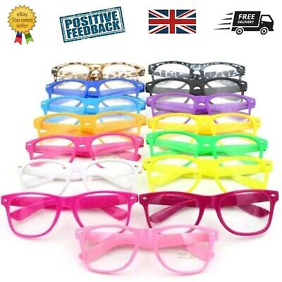 Boys Girls Teens Kids Childrens GLASSES geek fashion Fancy dress costume Black
