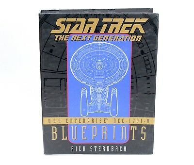 Star Trek Next Generation Blueprints USS Enterprise NCC-1701-D Blueprints Boxed