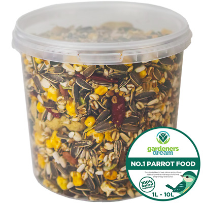 GardenersDream NO1 Parrot Food - High Energy Bird Nut Seed Oat Feed Tub Mix