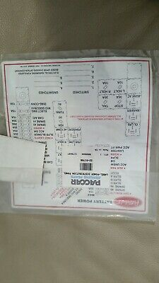 Paccar Power Distribution Panel label # 22-01706