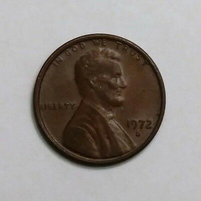 1972 Lincoln Memorial Penny, Denver Mint, Circulated