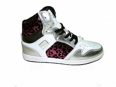 6246771a8ed Pastry Glam Pie foil cheetah women's athletic high top sneakers white pink
