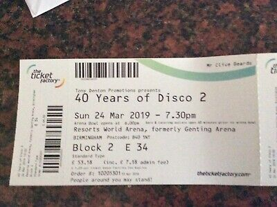 40 Years Of Disco 2 concert tickets 2019