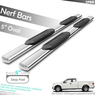 "4/"" SS Nerf Bar Side Step Running Boards for 99-07 Ford F150//250LD Super Cab"