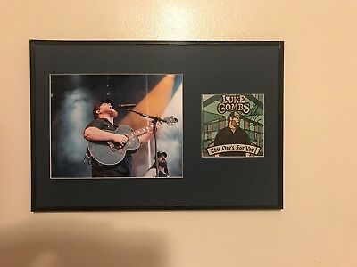 Luke Combs Signed Auto Custom Framed Cd Cover When It Rains It Pours Psa/Dna