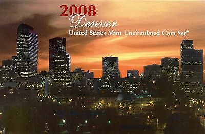 2008 Denver Philadelphia US Mint Uncirculated Coin Set