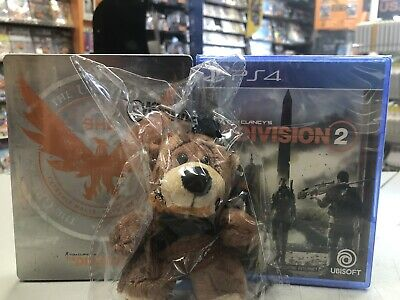 Tom Clancy's The Division 2 + dlc + STEELBOOK + portachiavi Ita PS4 NUOVO SIGILL