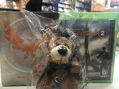 Tom Clancy's The Division 2 + dlc + STEELBOOK + portachiavi Ita Xbox One NUOVO