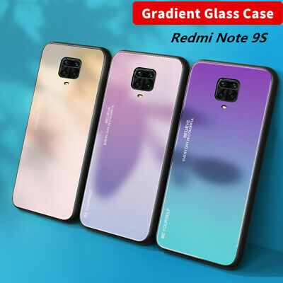 For Xiaomi Redmi Note 7 Shockproof Gradient Tempered Glass Hard Back Case Cover