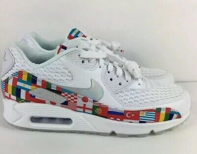 95b87b2b5 Nike Air Max 90 NIC QS International Flag AO5119-100 World Cup Mens 7 Womens