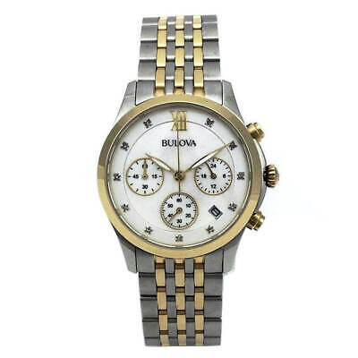 Bulova 98P163 Women's Two Tone Steel Diamond Chronograph Watch