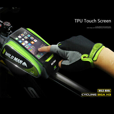 Rainproof TPU Touch Sensitive Phone Holder Large Capacity Bicycle Storage Bag K