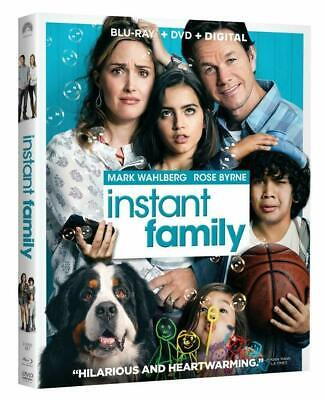 Instant Family  (Blu Ray+DVD+Digital HD) 2019 NEW w/ SLIP COVER