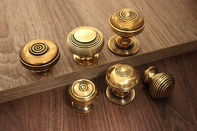 Solid Brass Antique Old Style Cabinet knobs Pulls Different Styles & Sizes