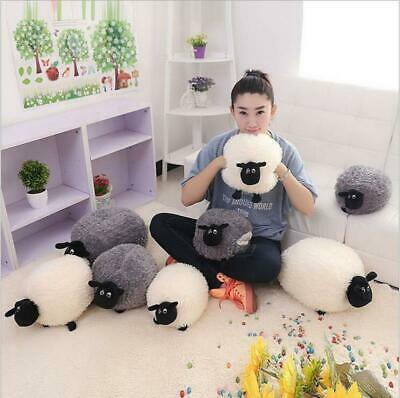 Cute Baby Stuffed Plush Doll Gift White Gray Warm Kids Sheep Character Toy Soft