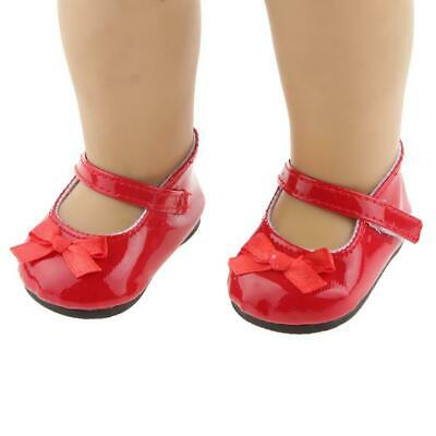 Dolls Shoes - red - 4 cm x 7 cm - velcro closure.