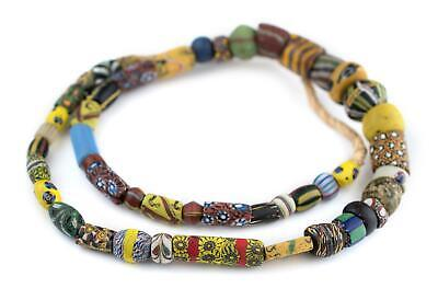 Premium Antique Venetian Mixed Trade Beads 13mm Ghana African Multicolor Glass