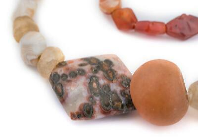 Ancient Mali Carnelian Stone Beads African Multicolor Mixed Gemstone Handmade