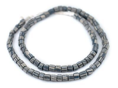 Ancient-Style Grey Java Gooseberry Beads 6-8mm Indonesia Multicolor Cylinder