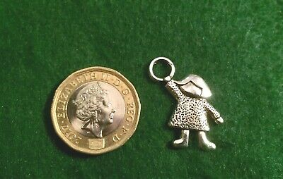 Little GIRL Charms Antique Tibetan Silver Baby Shower Christenings Craft