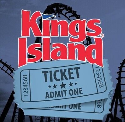 2 KINGS ISLAND THEME PARK TICKETS - ADULT OR CHILD - Mason, OH