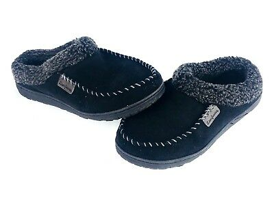 8507db6c8cd Dearfoams Men s Slippers Small 7-8 Memory Foam Indoor Outdoor Black ( 52C