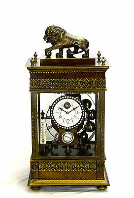 Mystery French Style Ferris Wheel Falling Ball Brass Industrial Regulator Clock