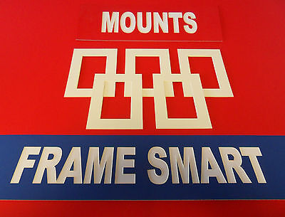 100 x ANTIQUE WHITE PICTURE/PHOTO MOUNTS 6x6 for 4x4