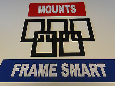 4 x BLACK PICTURE/PHOTO MOUNTS 12x10 for 10x8