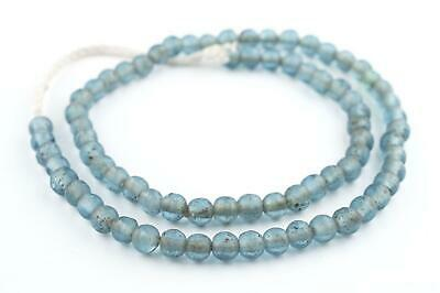 Light Blue Ancient Style Java Glass Beads 9mm Indonesia Round Large Hole