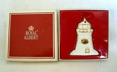 Royal Albert Old Country Roses~1998~Lighthouse Porcelain Ornament~Nib
