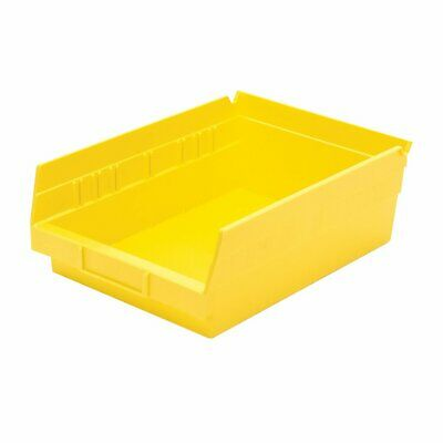 Akro-Mils 30150YELLO Plastic Nesting Shelf Bin Box, 12 x 8 x 4-Inch, Yellow, Cas