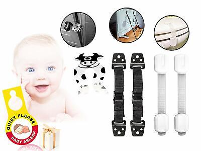 Child Proof Kit 5 Pieces Furniture Anchor Safety Straps Cabinet Locks