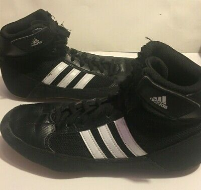 5093cc53abbc7 ADIDAS HVC 2 Youth / JR Wrestling Shoes AQ3327 - Black / White