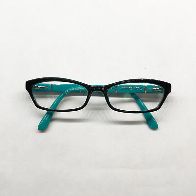 26e178eec14e Juicy Couture Berkin DH4 135 Eyeglass Frames Turquoise Green Black Flip  Temples