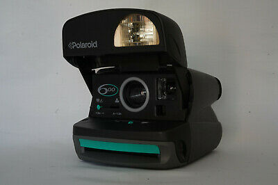 Polaroid 600 Film Camera - Grey and Teal - Film Tested, Excellent Camera