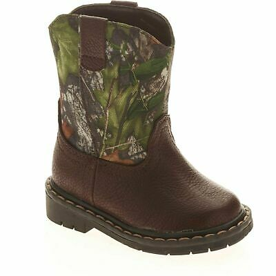 WONDER NATION MOSSY OAK Boys Camouflage Pull-On Cowboy Boots 1f19b264169d